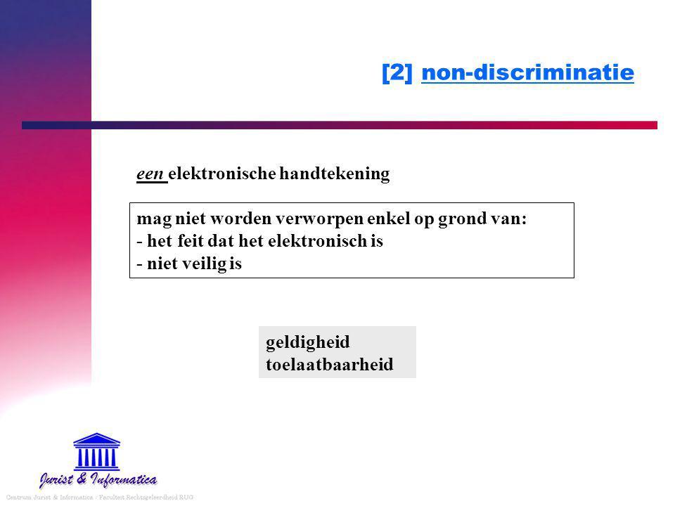 [2] non-discriminatie een elektronische handtekening